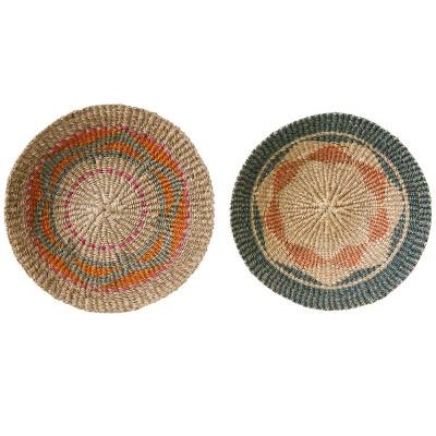 Terrain wall basket multicolor Ø40cm (set of 2) Bloomingville