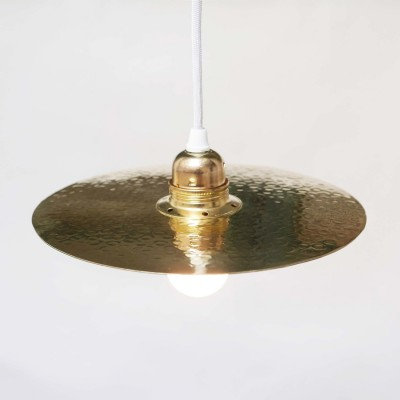 Ceiling light hammered brass