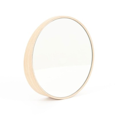 Odilon mirror Ø40 cm natural oak