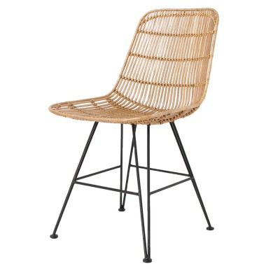 Rattan dining chair natural HK Living
