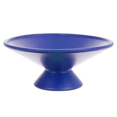 Fruit bowl on base cobalt