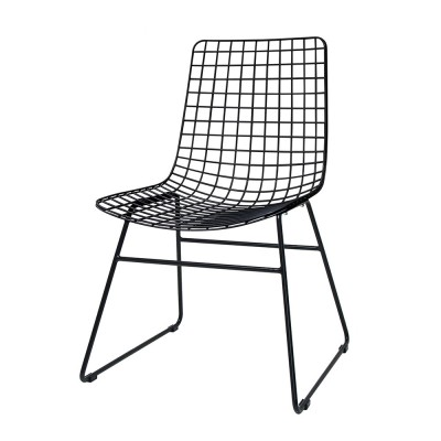 Metal wire chair black HK Living