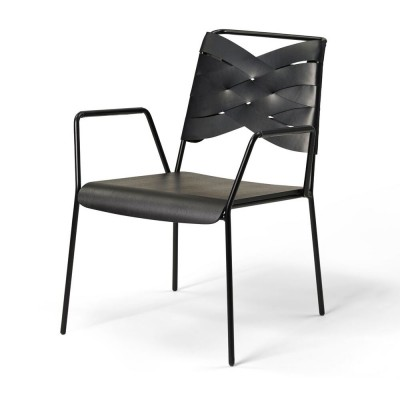 Torso lounge chair black ash & black Design House Stockholm