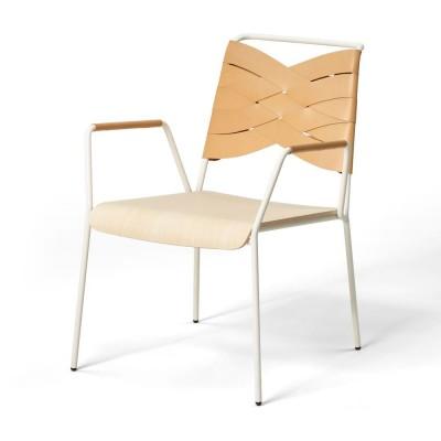 Torso lounge chair ash & natural leather Design House Stockholm