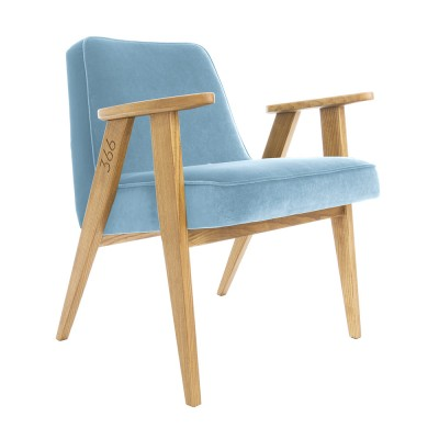 366 Velvet armchair Junior sky blue