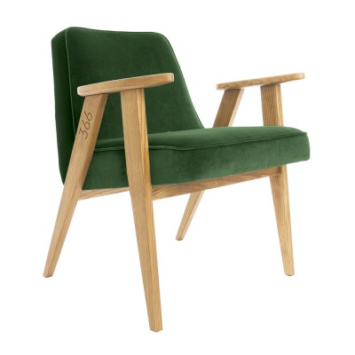 366 Velvet armchair Junior bottle green