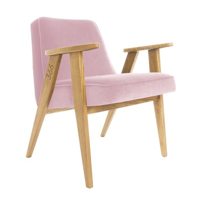 366 Velvet armchair Junior powder pink