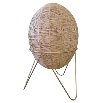Egg lamp raffia S