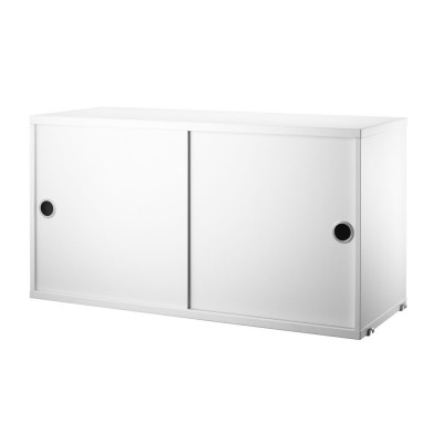 White cabinet with sliding doors - String system