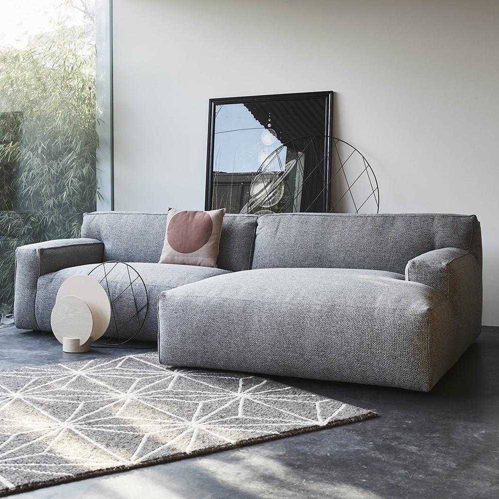 Clay sofa with longchair Sydney 91 Grey