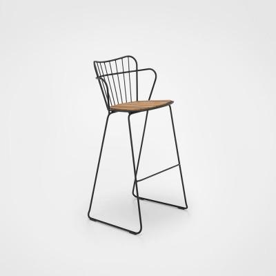 Paon bar stool black Houe