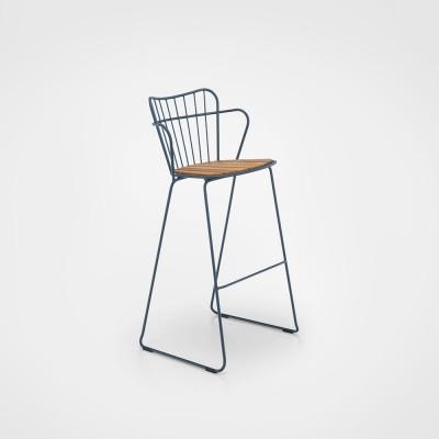 Paon bar stool midnight blue Houe
