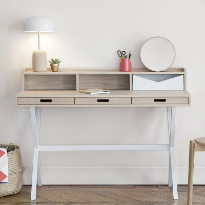 Hyppolite desk oak white