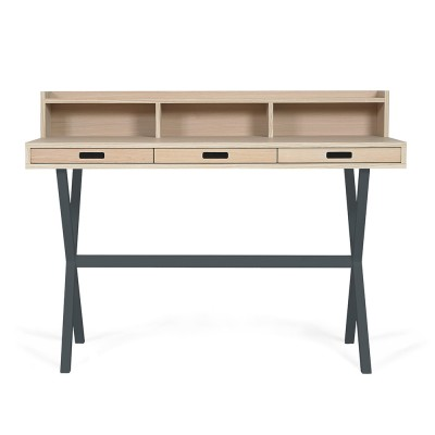 Hyppolite desk oak slate grey