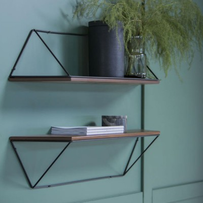 Epure black & teak shelf
