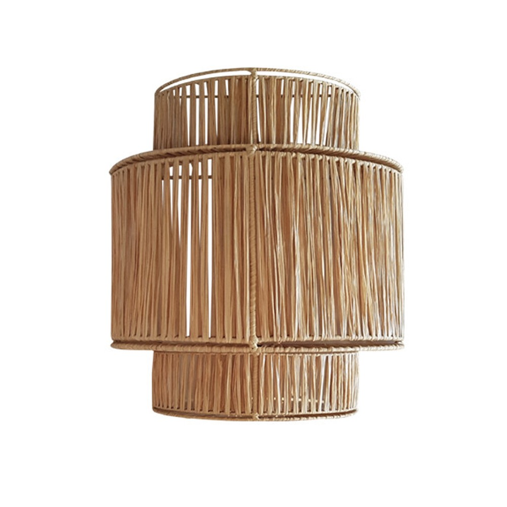 3 floors raffia wall lamp