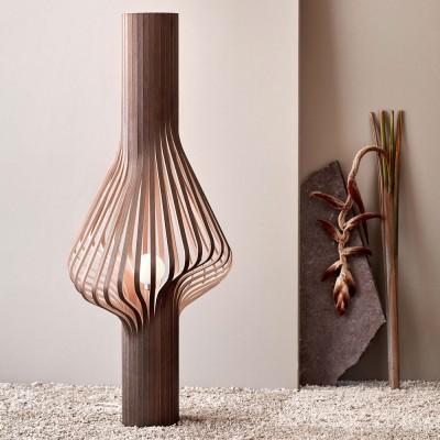 Diva smoked oak floor lamp