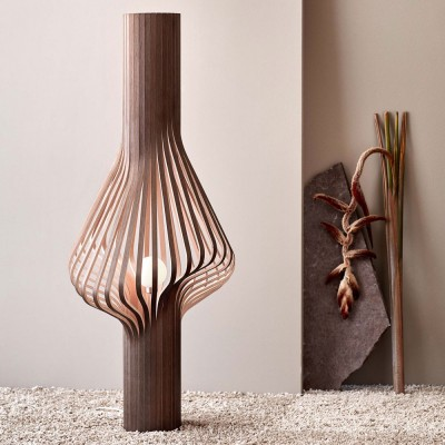 Diva smoked oak floor lamp
