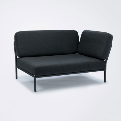 Level lounge sofa coal grey