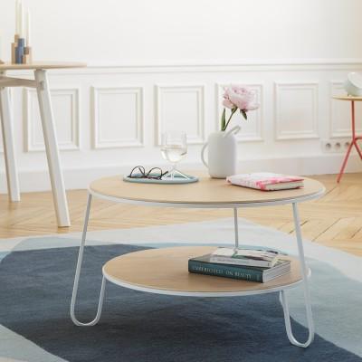 Table basse Eugénie 70 cm chêne blanc