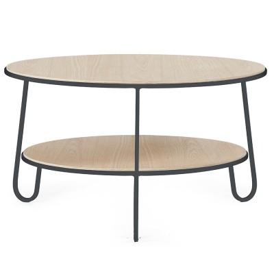 Table basse Eugénie 70 cm chêne gris ardoise