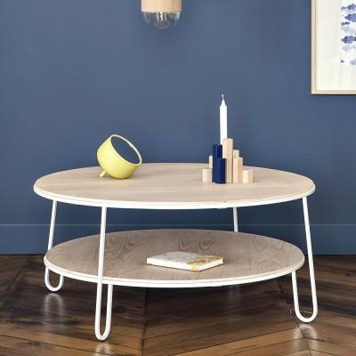 Eugénie coffee table 90 cm white oak Hartô