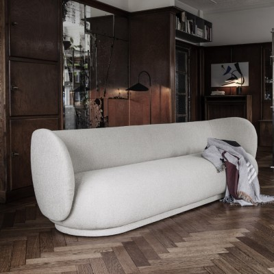 Rico 3-seater sofa bouclé white