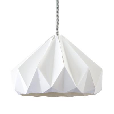Suspension origami en papier Chestnut blanc