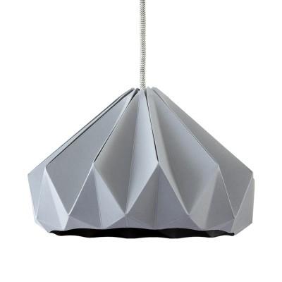 Suspension origami en papier Chestnut gris