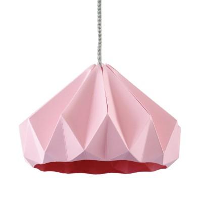 Suspension origami en papier Chestnut rose