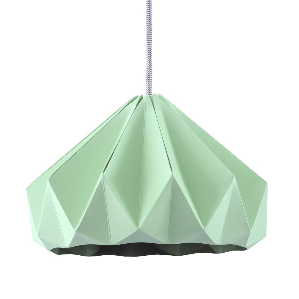 Suspension origami en papier Chestnut vert menthe
