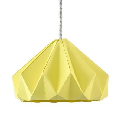 Suspension origami en papier Chestnut jaune clair
