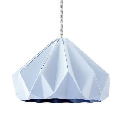 Suspension origami en papier Chestnut bleu pastel Snowpuppe