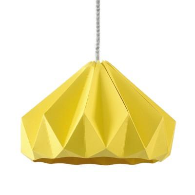 Suspension origami en papier Chestnut jaune foncé Snowpuppe
