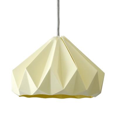 Suspension origami en papier Chestnut jaune canard