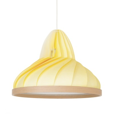 Wave pendant pastel yellow