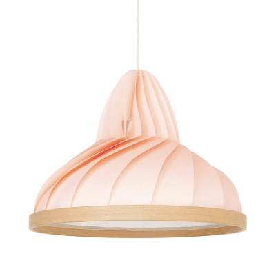 Wave pendant pastel pink