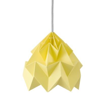 Suspension origami en papier Moth jaune canari Snowpuppe