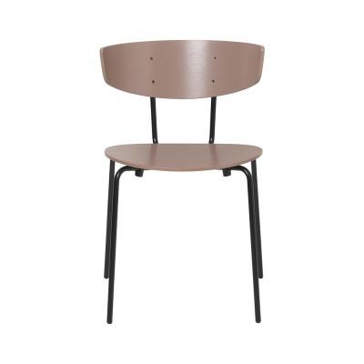 Set of 2 Herman chairs dark pink Ferm Living