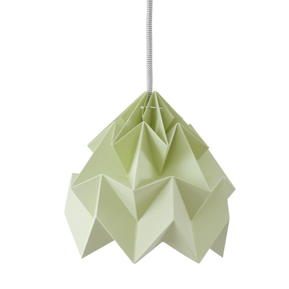 Suspension origami en papier Moth vert automne