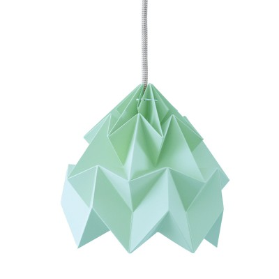 Suspension origami en papier Moth vert menthe Snowpuppe