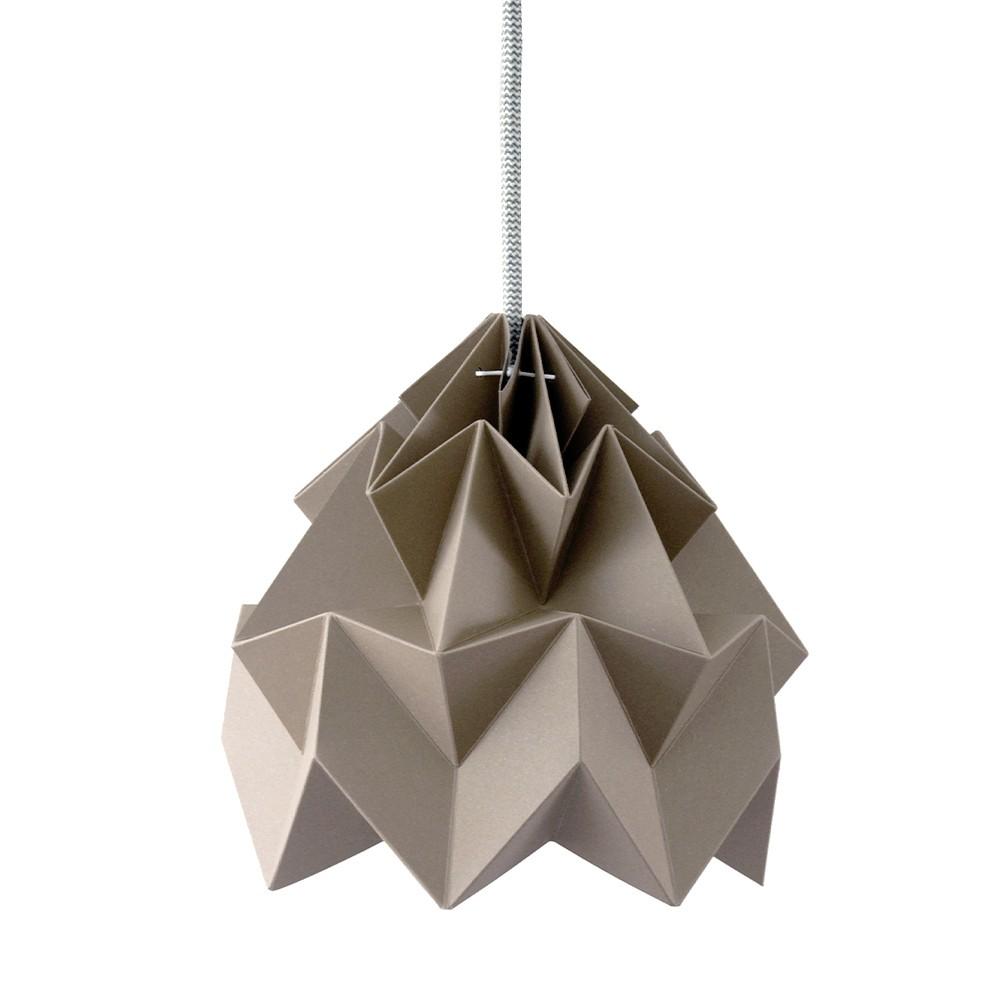 Suspension origami en papier Moth brun