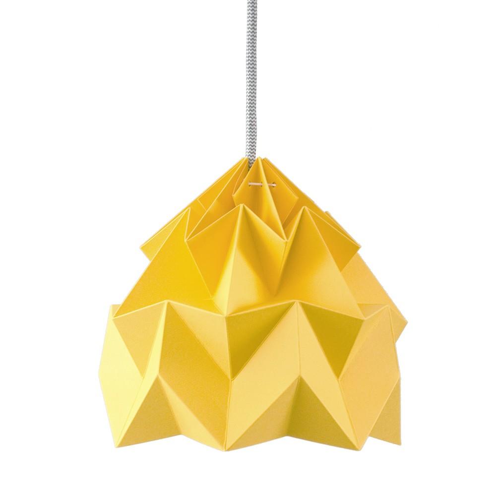 Suspension origami en papier Moth jaune or
