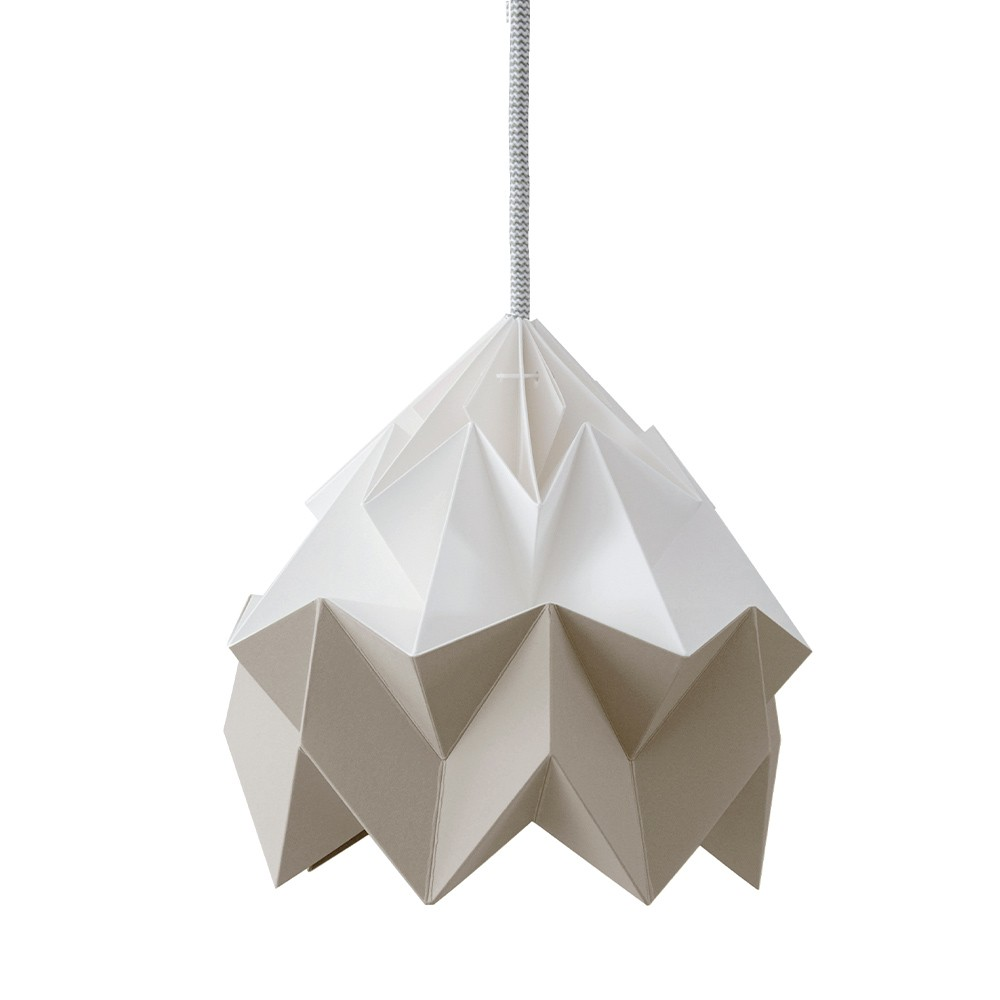 Suspension origami en papier Moth blanc & marron