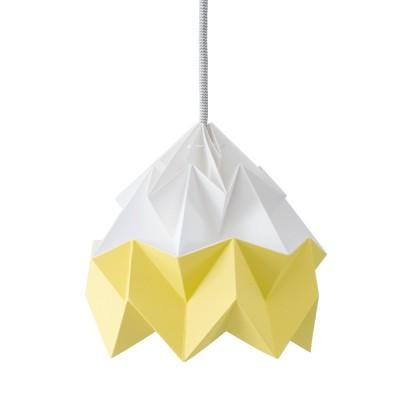 Moth paper origami lamp white & autumn yellow