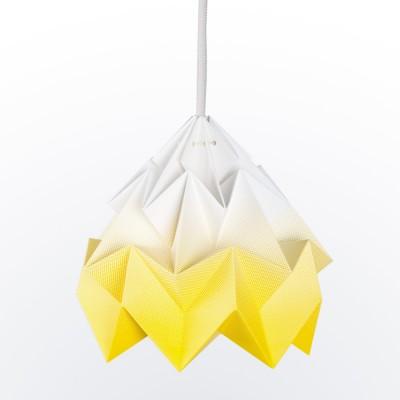 Moth paper origami lamp gradient yellow