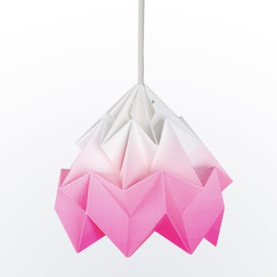 Suspension origami en papier Moth rose dégradé Snowpuppe