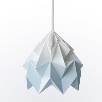Moth paper origami lamp gradient blue