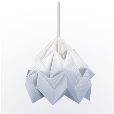 Moth paper origami lamp gradient grey