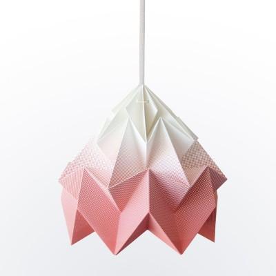 Suspension origami en papier Moth coral dégradé